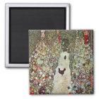 Garden Path w Chickens, Gustav Klimt, Art Nouveau Magnet