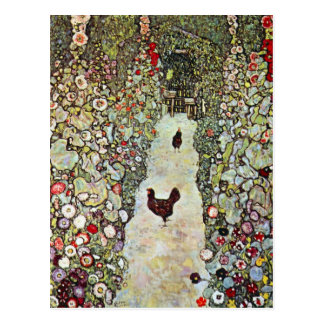 Garden Path with Chickens by Gustav Klimt Postcard
