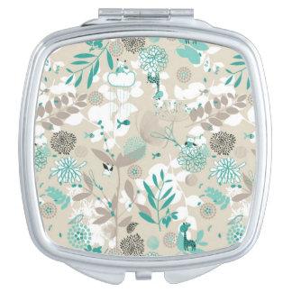 Garden Pattern Compact Mirror