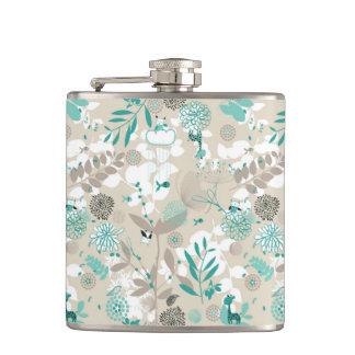 Garden Pattern Hip Flask
