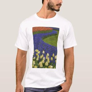 Garden pattern of Grape Hyacinth flowers and 2 T-Shirt