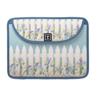 Garden Picket Fence and Flowers Macbook Sleeve. Sleeve For MacBook Pro