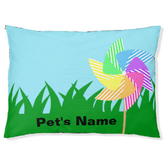 Garden Pinwheel with Name Pet Bed
