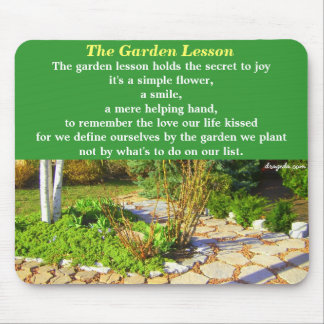 Garden Poetry Quote Mouse Mat