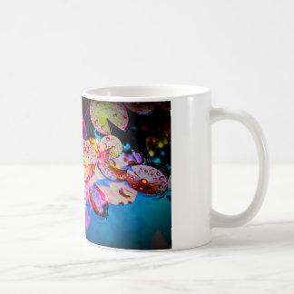 Garden pond basic white mug