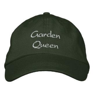 Garden Queen Light Text Embroidered Hat