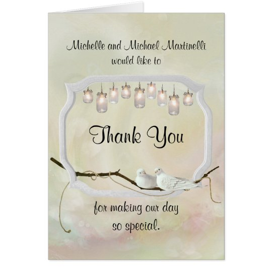 Garden Romance Thank You Card