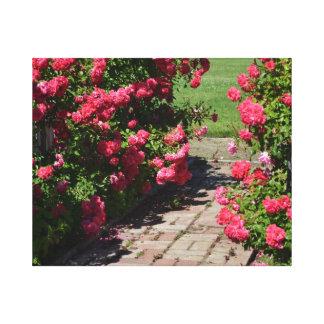 Garden Roses Path Gallery Wrap Canvas