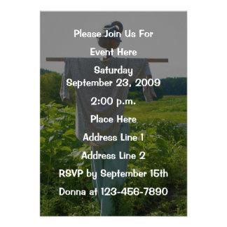 Garden Scarecrow Nature Invitation