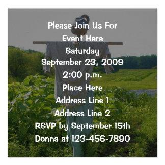 Garden Scarecrow Square Nature Invitation