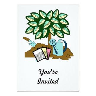 Garden Scene 13 Cm X 18 Cm Invitation Card