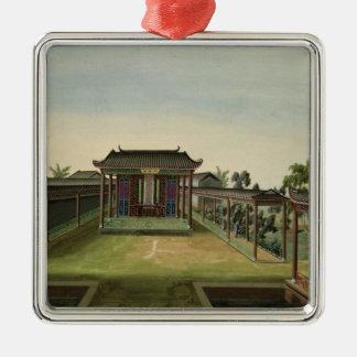 Garden Scene, c.1820-40 (w/c on paper) 2 Christmas Ornament