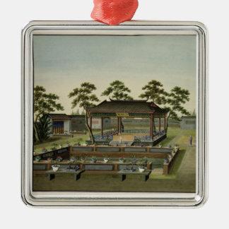 Garden Scene, c.1820-40 (w/c on paper) 4 Christmas Ornament