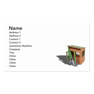 Garden Shed and Tools Pack Of Standard Business Cards
