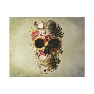 Garden Skull Light Canvas Print