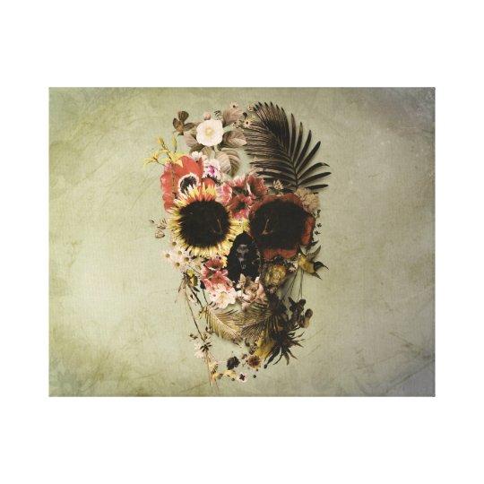Garden Skull Light Canvas Print