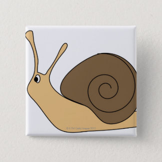 Garden Snail 15 Cm Square Badge