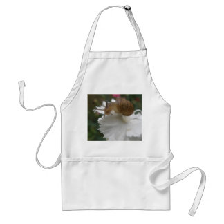 Garden Snail and White Carnation Apron