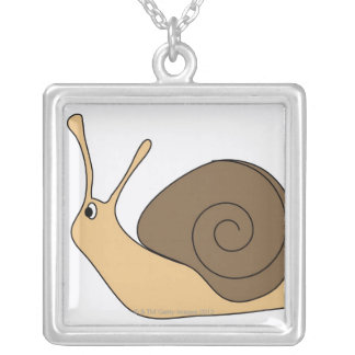 Garden Snail Silver Plated Necklace