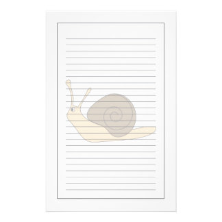 Garden Snail Stationery Design