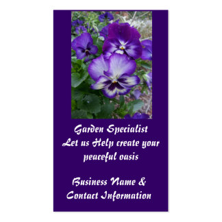 Garden Specialist Pack Of Standard Business Cards