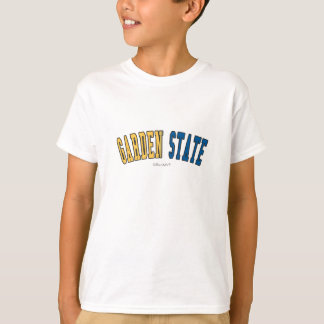 Garden State in state flag colors T-Shirt