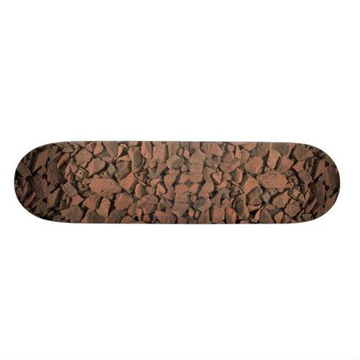 Garden stones texture custom skateboard