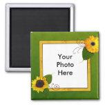 Garden Sunflower Photo Magnet