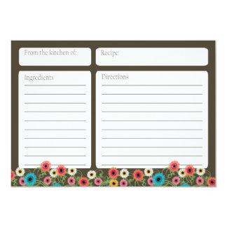 Garden Tea Floral 5x7 Recipe Card