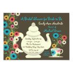 Garden Tea Party Bridal Shower and recipe cards 13 Cm X 18 Cm Invitation Card