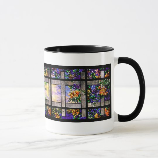 Garden Tiffany Stained Glass Mug