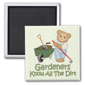 Garden Tips #1 - Know Dirt Square Magnet
