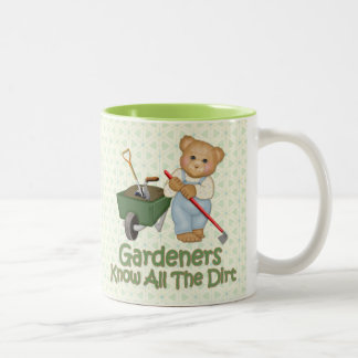Garden Tips 1 - Know Dirt Two-Tone Mug
