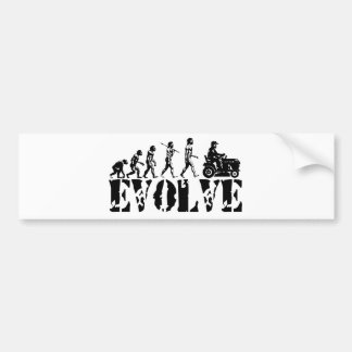 Garden Tractor Driver Racer Evolution Art Bumper Sticker