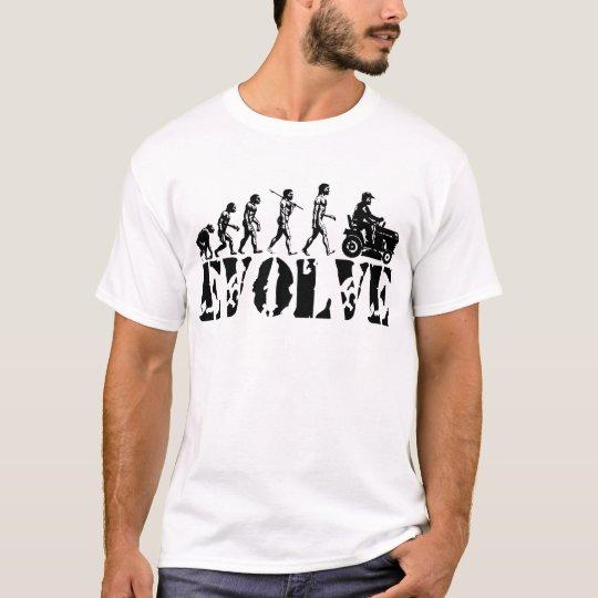 Garden Tractor Driver Racer Evolution Art T-Shirt