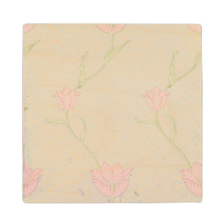 'Garden Tulip' wallpaper design, 1885 Wood Coaster