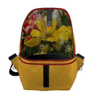 Garden Tulips Red Yellow White Commuter Bags