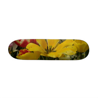 Garden Tulips Red Yellow White Skate Boards