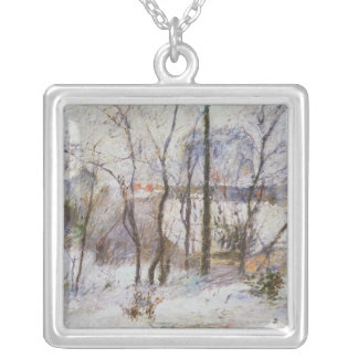 Garden under Snow, 1879 Silver Plated Necklace
