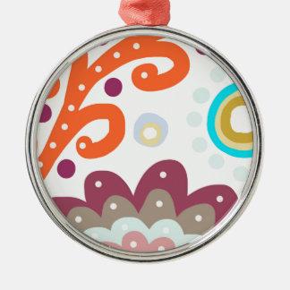 Garden Under The Sea Silver-Colored Round Decoration