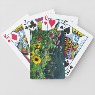 Garden View Bicycle Playing Cards