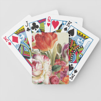Garden View Tossed Flowers Bicycle Playing Cards