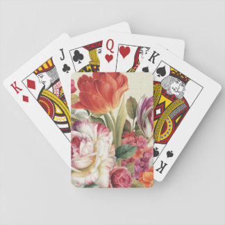 Garden View Tossed Flowers Playing Cards