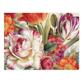 Garden View Tossed Flowers Postcard