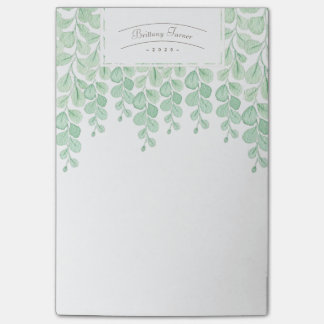 Garden Vine Watercolor | Custom Post-it Notes