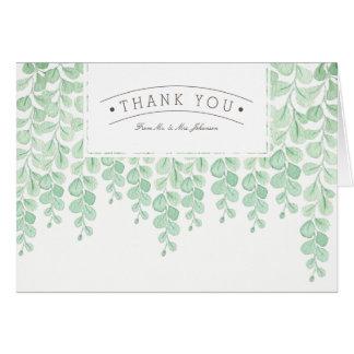 Garden Vine Watercolor | Thank You Card
