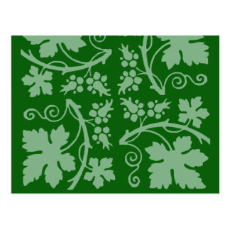 Garden Vines and Leaves Post Card