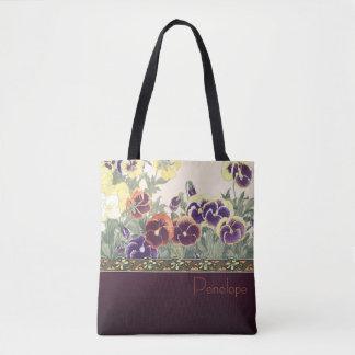 Garden Violet Design Tote Bag