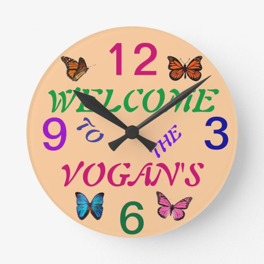 GARDEN WALL CLOCK PERSONALIZED