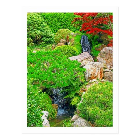 Garden Waterfalls photo painting postcard